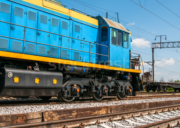 Diesel locomotive montagne industrie acier blanche Photo stock © zeffss