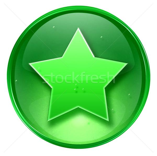 Ulubiony ikona zielone odizolowany biały projektu Zdjęcia stock © zeffss