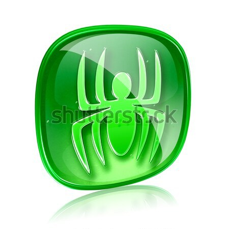 information icon green glass, isolated on white background Stock photo © zeffss