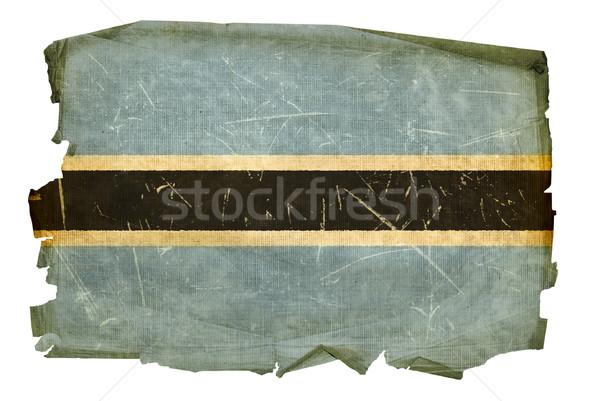 Botsvana bayrak eski yalıtılmış beyaz boyama Stok fotoğraf © zeffss