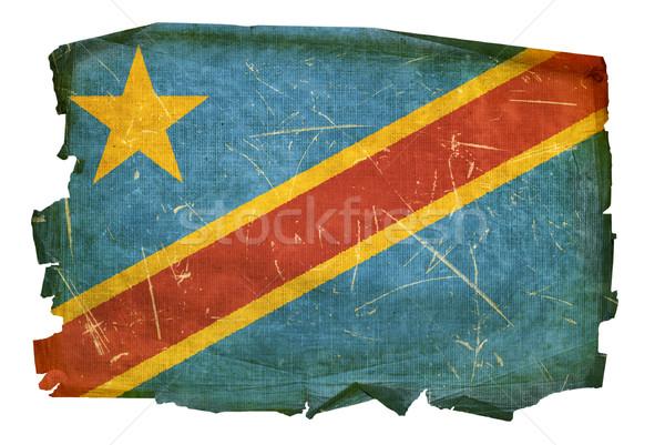 Congo bandera edad aislado blanco Foto stock © zeffss