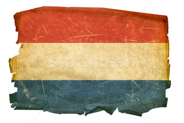 Dutch Flag old, isolated on white background. Stock photo © zeffss