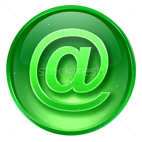 mail icon green, isolated on white background.  Stock photo © zeffss