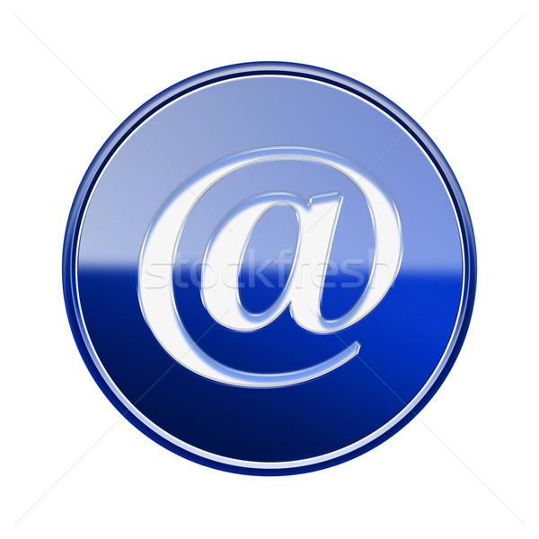 Stock fotó: Email · szimbólum · ikon · fényes · kék · izolált