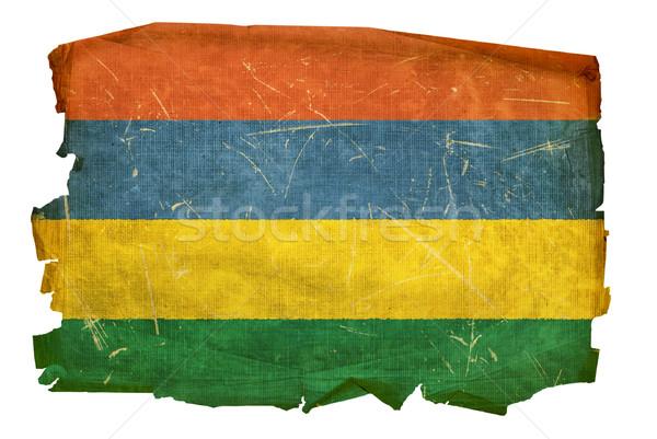 Mauricio bandera edad aislado blanco pintura Foto stock © zeffss