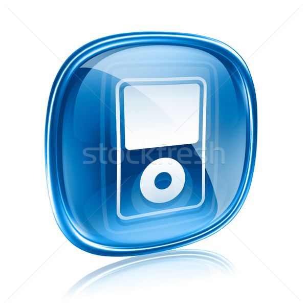 mp3 player blue glass, isolated on white background Stock photo © zeffss