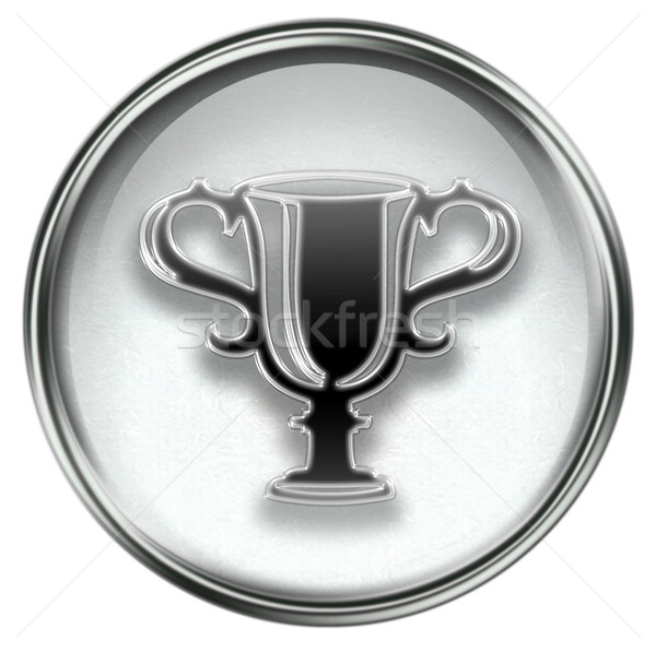 Cup icon grey Stock photo © zeffss