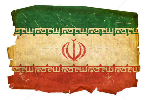 Iran Flag old, isolated on white background. Stock photo © zeffss