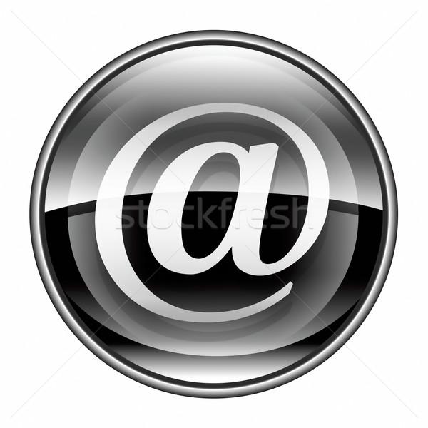 Сток-фото: электронная · почта · символ · черный · изолированный · белый · компьютер
