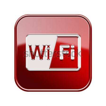 WI-FI tower icon black, isolated on white background Stock photo © zeffss