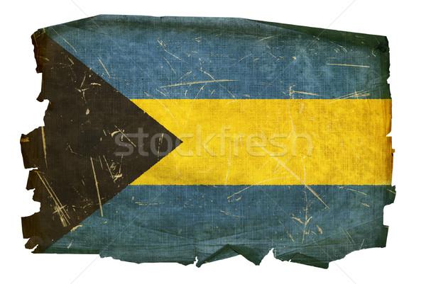 Bahamas bandeira velho isolado branco pintura Foto stock © zeffss