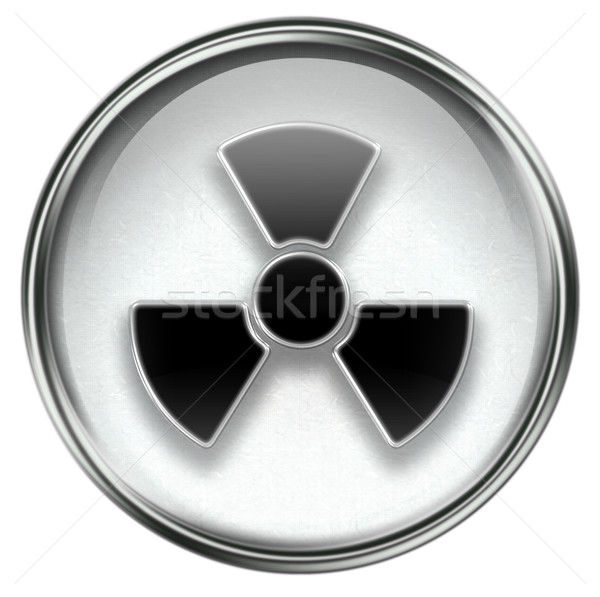 Radioactive icon grey Stock photo © zeffss