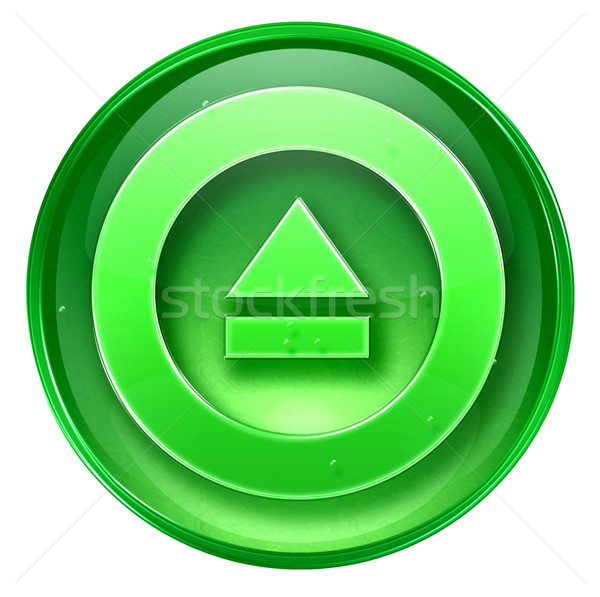 Eject icon green, isolated on white background. Stock photo © zeffss