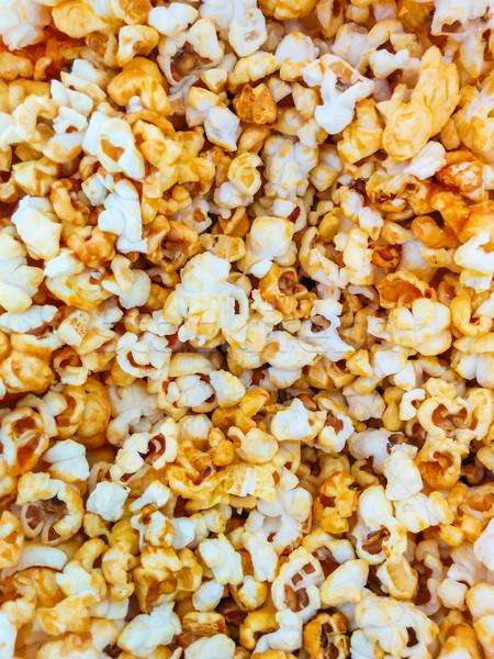 Popcorn texture caffè sfondo gruppo cinema Foto d'archivio © zeffss