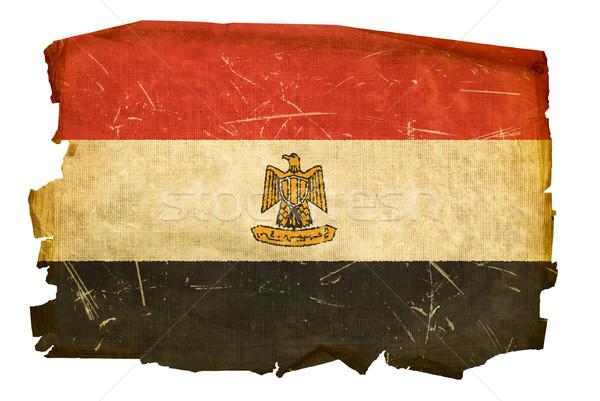 Egypt Flag old, isolated on white background. Stock photo © zeffss