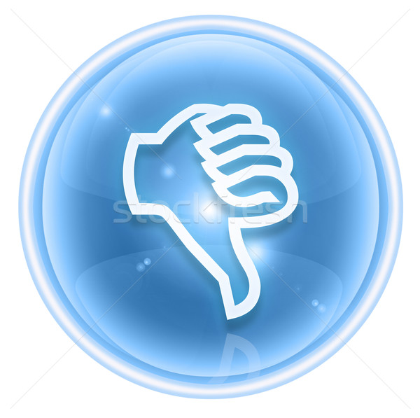thumb down icon ice, isolated on white background. Stock photo © zeffss