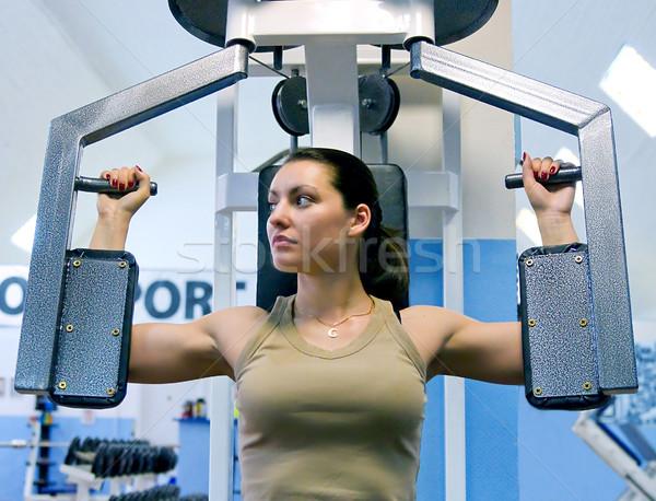 Сток-фото: девушки · фитнес · клуба · работу · спорт · тело