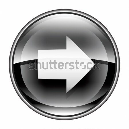 Arrow right icon black, isolated on white background.  Stock photo © zeffss