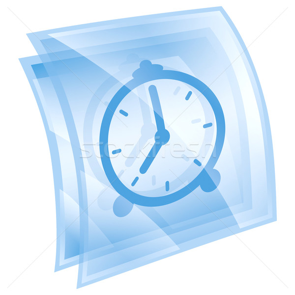 Clock icon blue, isolated on white background. Stock photo © zeffss