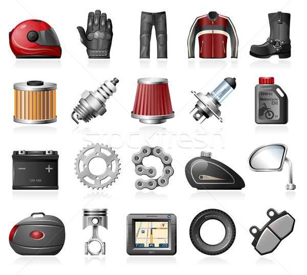 Moto compras ícones motocicleta Foto stock © zelimirz