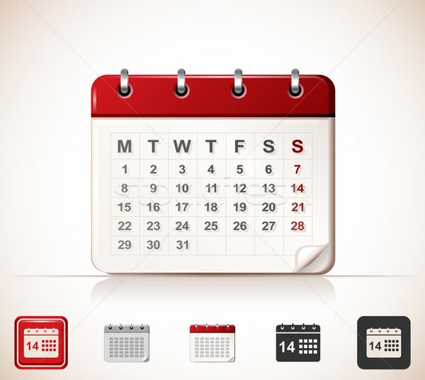 Kalender icon Stockfoto © zelimirz