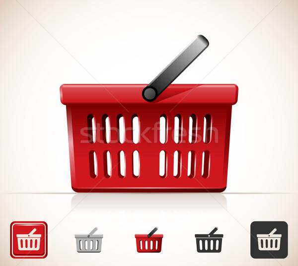 Carrinho de compras ícone cesta Foto stock © zelimirz