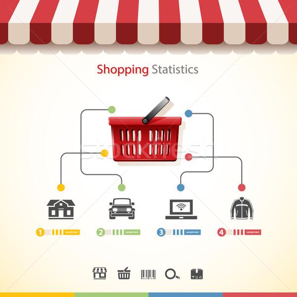 Winkelen statistiek auto store concept jas Stockfoto © zelimirz