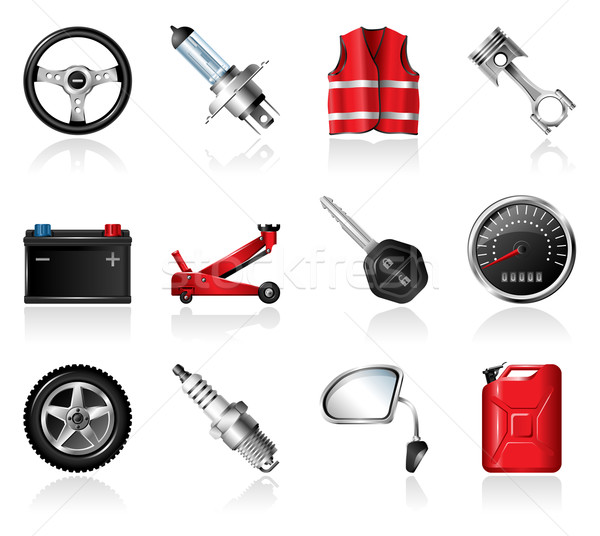Car Parts Icons Stock photo © zelimirz