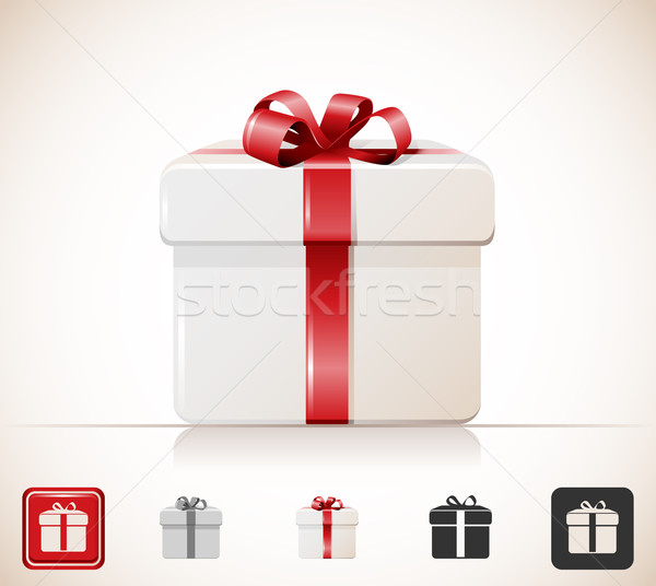Geschenkbox Symbol Stock foto © zelimirz