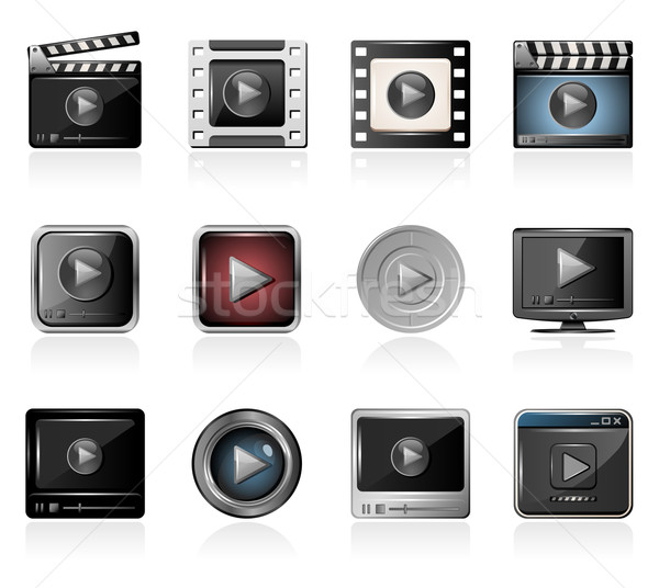 Filme jogadores ícones filme Foto stock © zelimirz