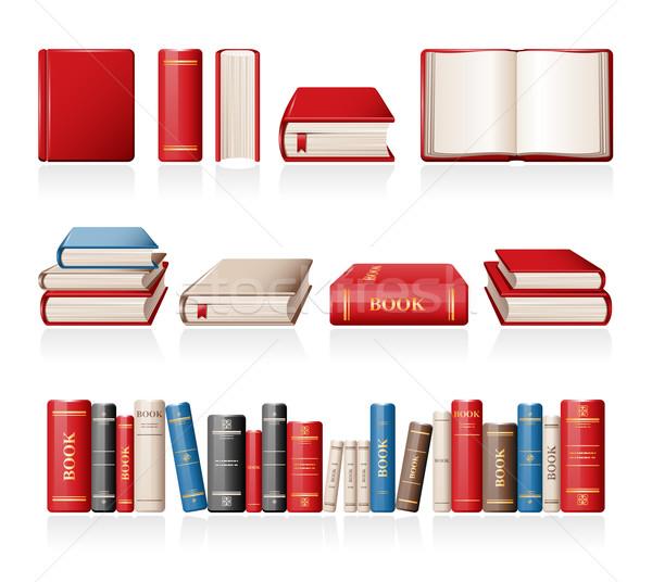 Boeken iconen papier boek onderwijs Open Stockfoto © zelimirz