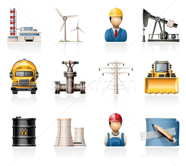 Industrie Symbole Energie Macht Ingenieur Rohr Stock foto © zelimirz