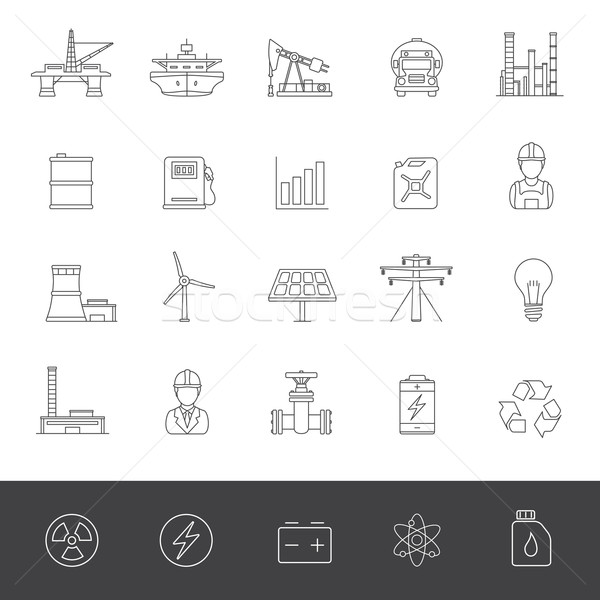 Line Icons - Industry And Energy Stock photo © zelimirz