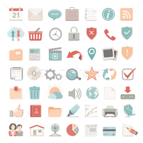 Flat Icons - Web Stock photo © zelimirz