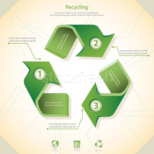 Recycling recycleren logo label concept vector Stockfoto © zelimirz