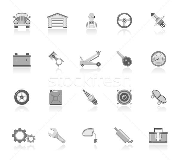 Auto onderhoud iconen spreker dienst Stockfoto © zelimirz
