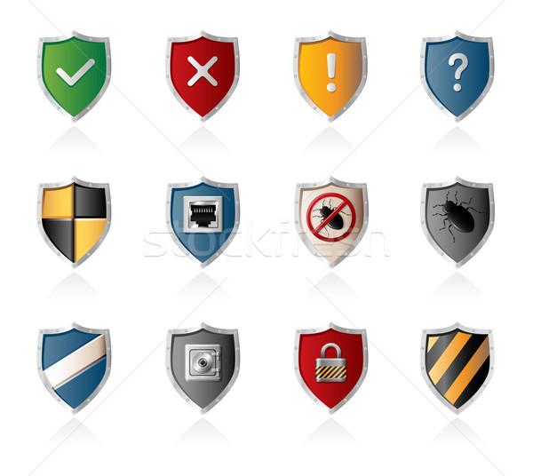 Segurança rede proteção conjunto Foto stock © zelimirz