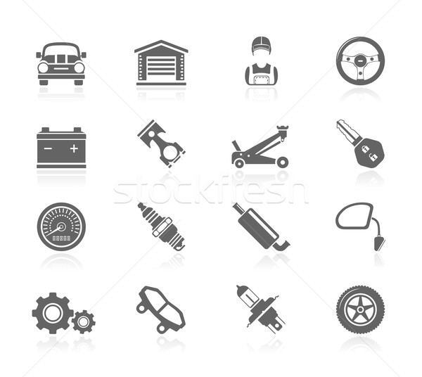 Black Icons - Car Maintenance Stock photo © zelimirz