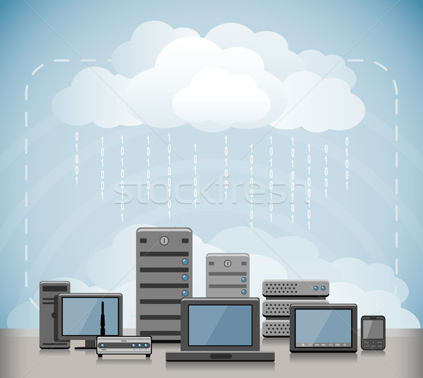 Cloud Computing Stock photo © zelimirz