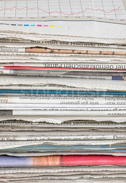 pile of newspapers Stock photo © Zerbor