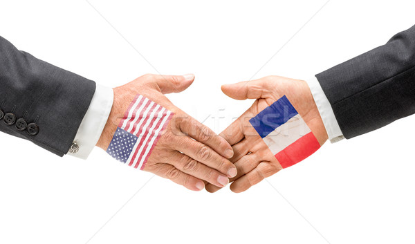 USA Francia raggiungere fuori mani business Foto d'archivio © Zerbor