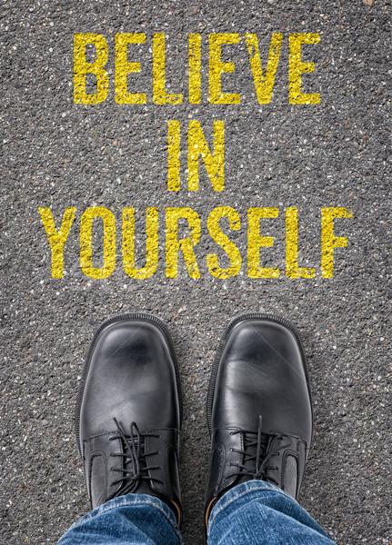 Szöveg padló magad út felirat siker Stock fotó © Zerbor