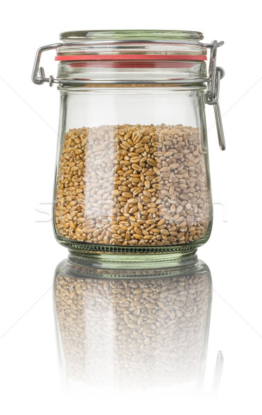 Wheat in a jar Stock photo © Zerbor