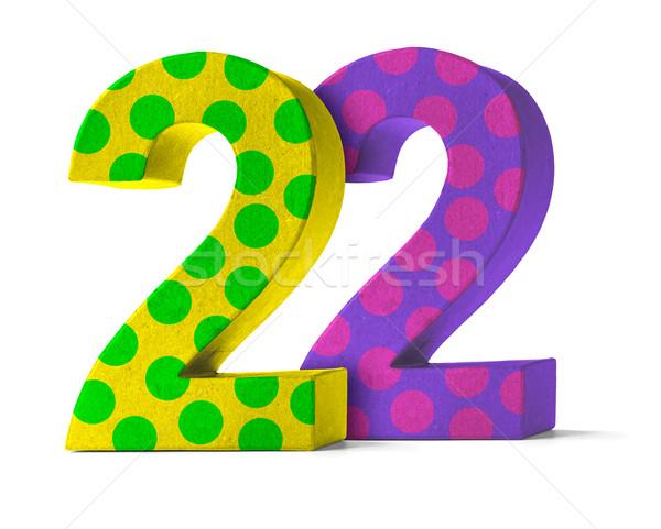 Сток-фото: красочный · бумаги · числа · белый · 22 · вечеринка