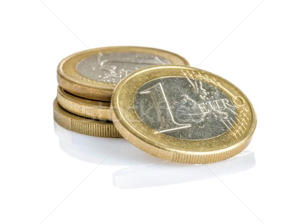 Euro coins on a white background Stock photo © Zerbor