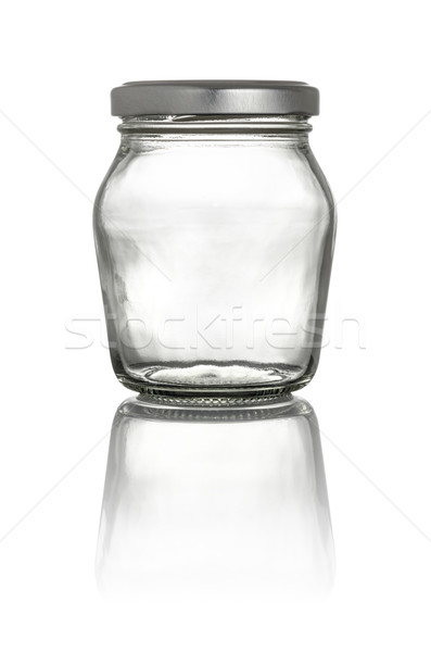 Isolated glass jar with lid on a white background Stock photo © Zerbor