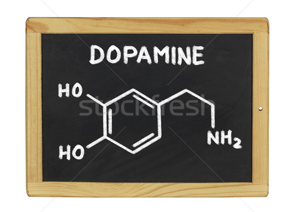 chemical formula of dopamine on a blackboard Stock photo © Zerbor