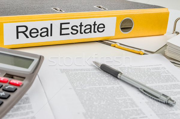 Folder with the label Real Estate Stock photo © Zerbor