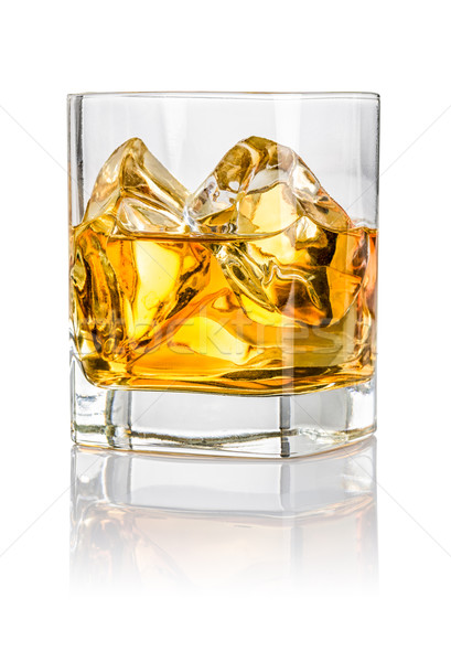 Tumbler with whiskey on the rocks Stock photo © Zerbor