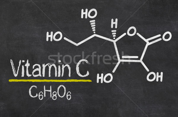 Blackboard with the chemical formula of Vitamin C Stock photo © Zerbor